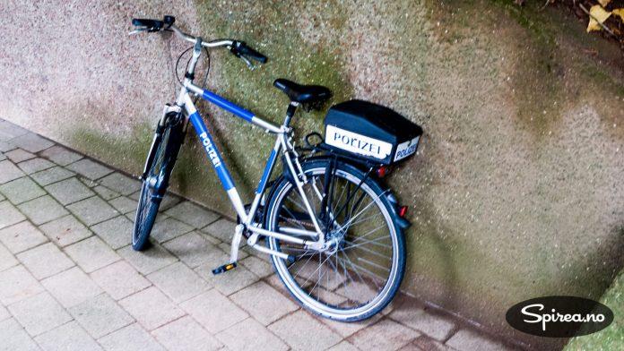 Kun politiet har lov til å bruke sykkel på Helgoland.