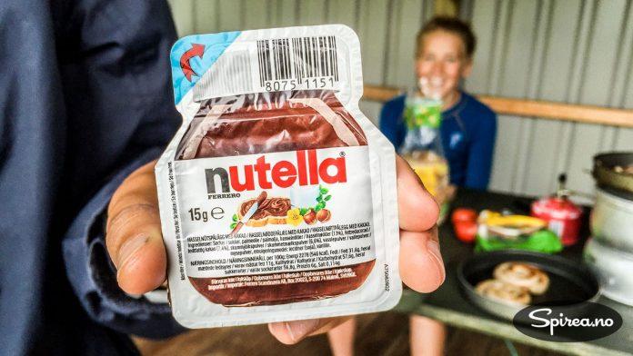 Favorittpålegget på tur er definitivt Nutella!
