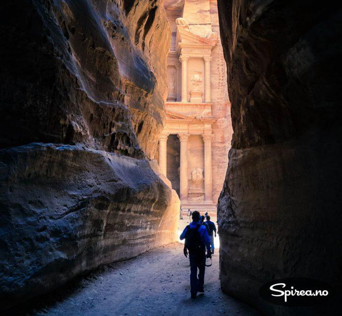 Øyeblikket alle Petra-turister kommer for å oppleve. Åpenbaringen!