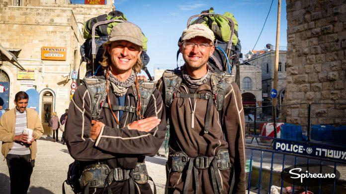 Disse nederlandske brødrene møtte vi ved Jaffa Gate. De hadde brukt 10 måneder på å gå (!) fra Amsterdam til Jerusalem. Begge hadde mistet rundt 30 kilo kroppsvekt på turen.