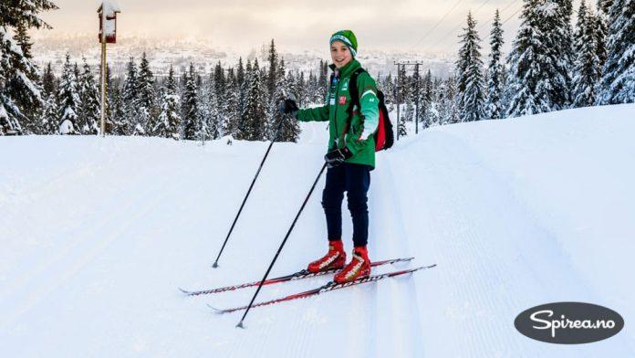Henrik er snart 14 år og satser seriøst på langrenn i klubben Rustad IL. På Skeikampen finner han perfekte treningsforhold.