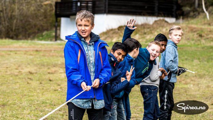 Bursdagsgutten: 12-åringen Andreas (til venstre) hadde en topp dag sammen med vennene sine.