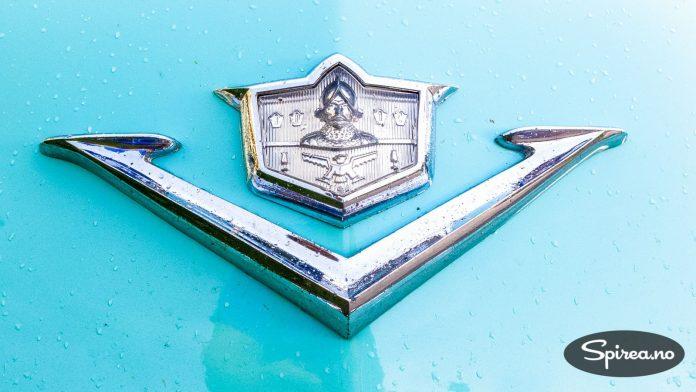 KROM: Denne bilen viser hva bil-fabrikkene i USA mente var lurt på sent 1940-tallet: Krom.