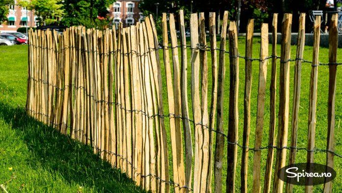 Kastanjegjerde er en flott og vedlikeholdsfri løsning til lettstelte hager.