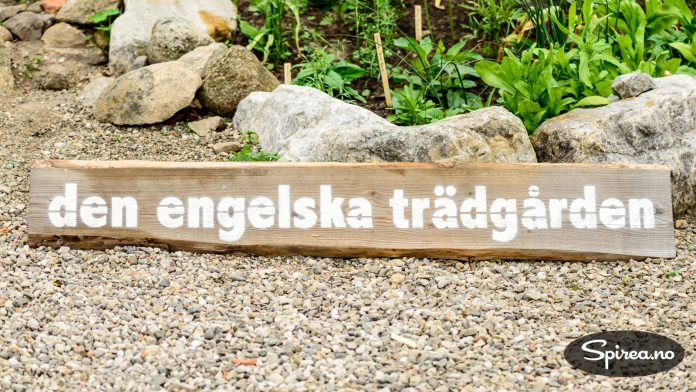 Vi er i Sverige, men hagen er definitivt engelsk.