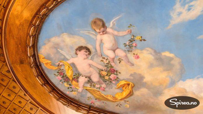 Takmaleri med cheruber. Engleaktige barn, gjerne litt velfødde. Det er referanser til disse lubne barna i alle Abrahamsreligionene, og mye brukt av europeiske kunstnere de siste 500 år.