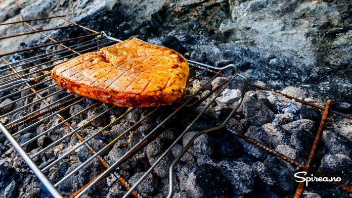 Perfekt stekt flintstek fikk vi i det minste, selv om grillkullet ikke var så effektivt for fjerne fjellet.